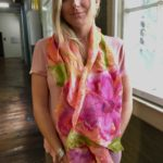 nuno flowerscarf luckystone