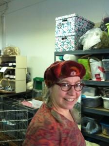 Joy in her felt beret