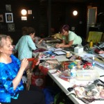 Stitching and designing, Sylvia's class