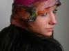 magenta flapper hat