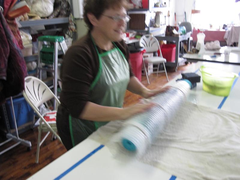 seaweed scarf, rolling